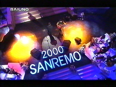 performing All I Want Is You - Bono and Edge @ San Remo Festival February 26, 2000