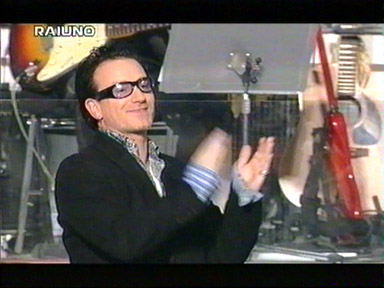 performing The Ground Beaneath Her Feet - Bono and Edge @ San Remo Festival February 26, 2000